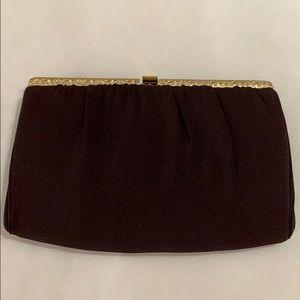 Vintage Clutch Purse w/matching satin coin purse